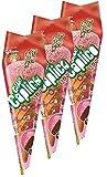 江崎グリコ ジャイアントカプリコ(いちご) チョコレート菓子 おやつ 1本 ×3袋