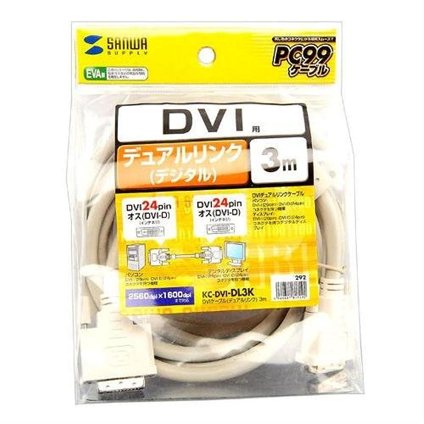 パッチセッティング愛撫KC-DVI-DL3K サンワサプライ DVIケーブル(デュアルリンク)3m