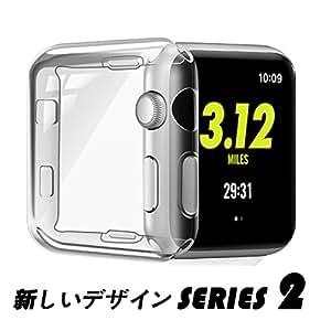 Apple Watch Series 2 ケース TPU ウオッチ保護ケース 耐衝撃性 フルカバー 柔らかいカバー アップル ウォッチ シリーズ2 38mm(クリア Apple Watch Series 2 38mm)