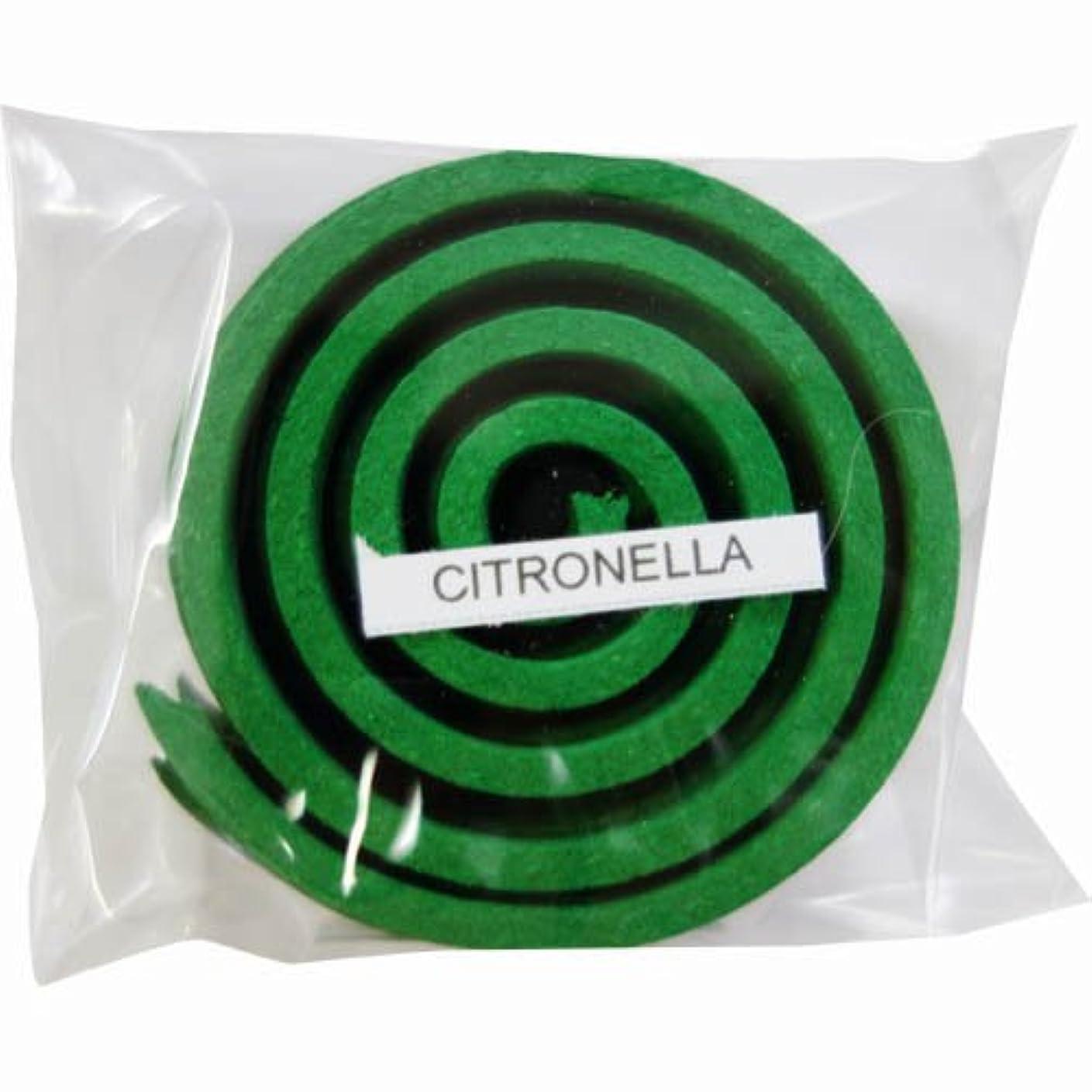 ガソリン飛び込む積極的にお香/うずまき香 CITRONELLA シトロネラ 直径5cm×5巻セット [並行輸入品]