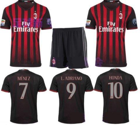 大人用 16-17 最新モデル サッカー ユニフォーム ACミラン・・・