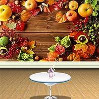 Jason Ming 写真の壁紙カントリースタイルフレッシュフルーツの背景ウォールスーパーマーケットフルーツショップリビングルームの装飾壁紙壁画-120X100Cm
