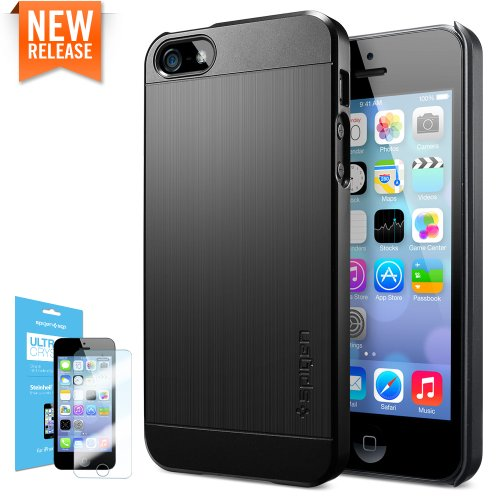【国内正規品】SPIGEN SGP iPhone5/5S ケース ウルトラ フィットS ECO-Friendly Packaging [スムース・ブラック]【SGP10310】
