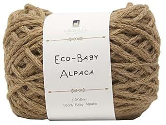 エフジーエス エコベビーアルパカ 毛糸 極太 ブラウン 系 100g 約200m