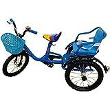 LovemyhomeDD Kids Tricycle Bike Tandem Push Trikes Toddler Ride on Toy 3 Wheel