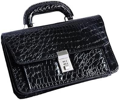 RaimondoValentinoミニセカンドバッグ黒KT968クロコ型押し鍵付