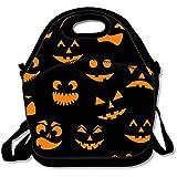 Halloween Pumpkin Blackランチバッグ/ランチボックス/特殊/ピクニックバッグに昼食を絶縁クーラートラベルオーガナイザーを来ることはありません
