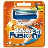 ジレット フュージョン5+1 マニュアル 髭剃り 替刃 4コ入 P&G