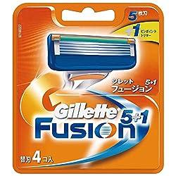 ジレット 髭剃り フュージョン 5+1 替刃4個入