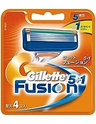 ジレット 髭剃り フュージョン5+1 替刃4個入
