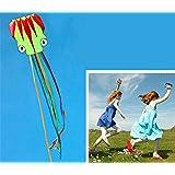 カラフル 5メートル長い 立体タコ凧 カイト 飛び、持ち運びやすいです。タコベストセラー