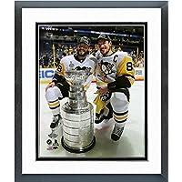 Kris Letang Sidney Crosby Pittsburgh Penguins 2017 Stanley Cupフォト(サイズ: 26.5 CM x 30.5 CM )フレーム