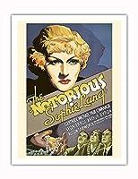 """""""The Notorious Sophie Lang"""" - Gertrude Michael, Paul Cavanagh - 監督 Ralph Murphy - ビンテージなフィルム映画のポスター c.1954 - アートポスター - 51cm x 66cm"""