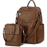 UTO Women's 3 Ways Casual Backpack Shoulder Bag Handbag Totes with Anti Theft Pocket Detachable Shoulder Strap Oxford/PU Edition Optional