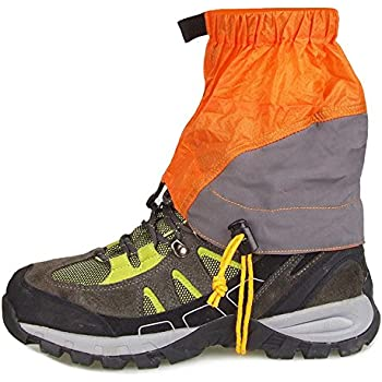 Lixada ナイロン材質 登山 ゲイター ショット トレッキング クライミング ハイキング 防水 泥除け レッグカバー 雨具 悪天候にも対策