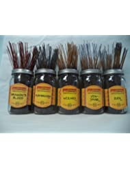 Wildberry Incense Sticks Earthy Scentsセット# 3 : 20 Sticks各5の香り、合計100 Sticks 。