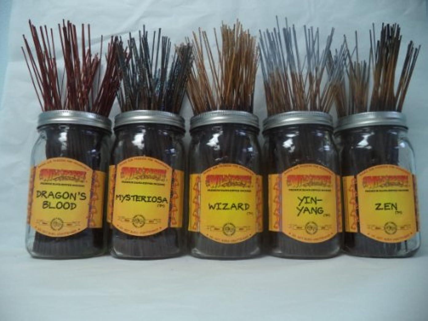 雇用者ホール卵Wildberry Incense Sticks Earthy Scentsセット# 3 : 20 Sticks各5の香り、合計100 Sticks 。