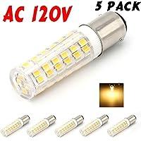 MCDEN ba15d LED電球バヨネットベース35W交換用ライトバルブ、3.5W、暖かいホワイト3000K、5- Pack MBA64W5