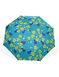 ユキオ(UKIO) 折りたたみ傘 レディース 晴雨兼用 高密度 遮光 手動 遮熱 飛び跳ね防止 梅雨対策 雨傘 日傘 軽量 防風 頑丈 ひょうたん 収納ケース付