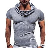SmaidsxSmile(スマイズ スマイル) Tシャツ トップス スウェット トレーニング ウェア タートル ネック 半袖 メンズ (ライトグレー, XL)