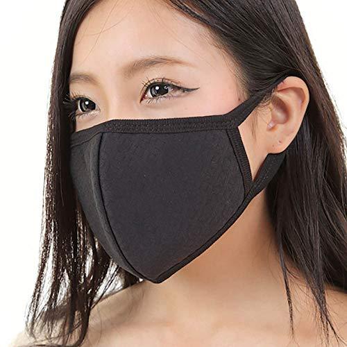 マスク 黒マスク 【快適 洗える 立体マスク 花粉症 カラーマスク】ブラックマスク 布マスク 花粉 防塵 ウイルス PM2.5 を防ぐ (3枚, ブラック)