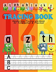 Alphablocks Tracing Book: Capital Letters, Workbook for Preschool, Kindergarten, and Kids Ages 3-5: Trace Lett