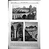 建築者の 1896 の建築の Semur 橋 Armancon Notre Dame の出入口