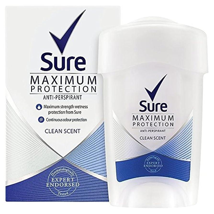 保安紳士気取りの、きざなシュガー女性の最大の保護クリーンな香りのクリーム制汗デオドラント45ミリリットルを確認してください x4 - Sure Women Maximum Protection Clean Scent Cream Anti-Perspirant...