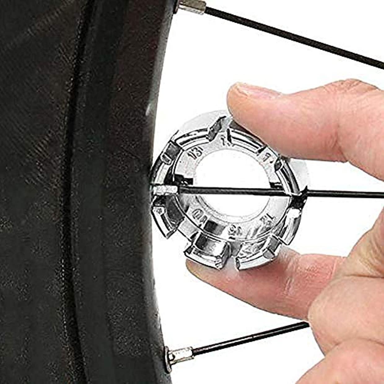 回路分類細部Besline 自転車 メンテナンス用品 工具 ニップルレンチ ニップル回し マルチ ホイールリムレンチスパナスポークツール アジャスターセットキット