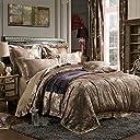 Lucky Beauty 北欧デザイン寝具カバーセット 豪華な掛け布団カバー シーツ ピロケース2枚