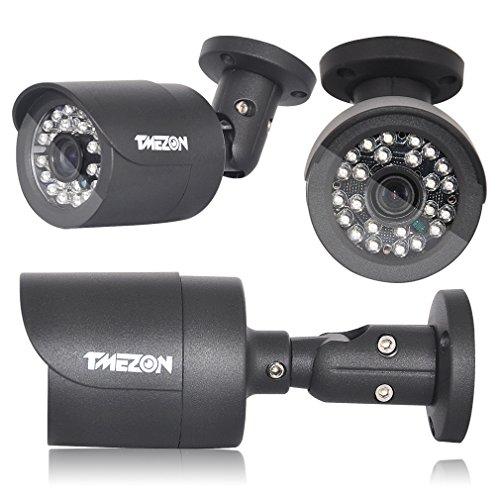 『TMEZON CVI防犯カメラセット4台 200万画素 赤外線LED24個 2.8mmレンズ ハイビジョンカメラ 1080pレコーダー (ブラック)』の6枚目の画像