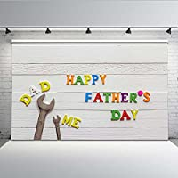 comophoto Happy父の日写真の背景幕の画像ホワイト木製フォトブースBackdrop Studio