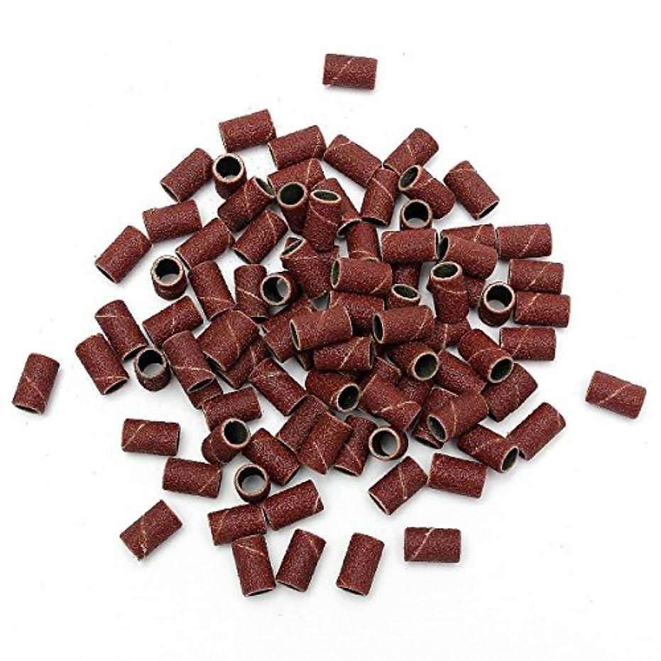 スローガン鉛筆ヨーグルトTOOGOO 100個 ネイルドリルサンディングバンドマシン置換 サンドサークル ビットペディキュア(80#)