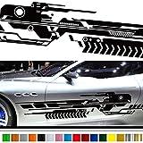マシントライバルカーステッカー149■バイナルグラフィック車ワイルドスピード系デカール(ブラック)★色変更可★