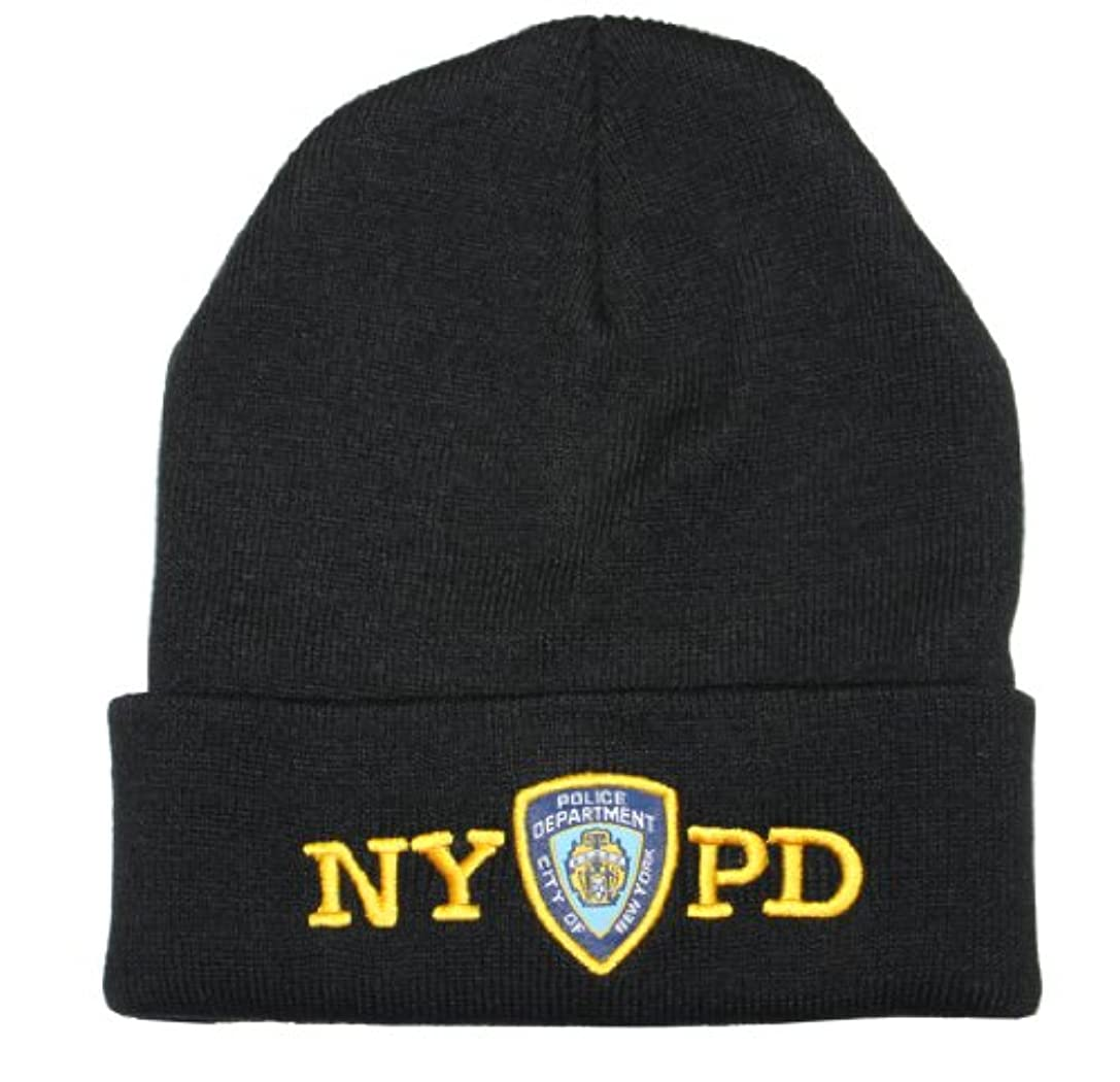 歴史的可動式バンドルNYPD冬帽子警察バッジNew York Police Departmentブラック&ゴールドOneサイズ