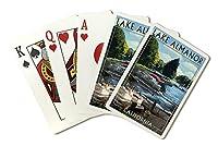 湖Almanor、カリフォルニア–Pontoonボート( Playingカードデッキ–52カードPokerサイズwithジョーカー)