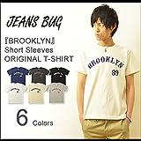 (ジーンズバグ)JEANSBUG BROOKLYN オリジナル ブルックリン アメカジ プリント 半袖 Tシャツ メンズ レディース 大きいサイズ ST-BROOK