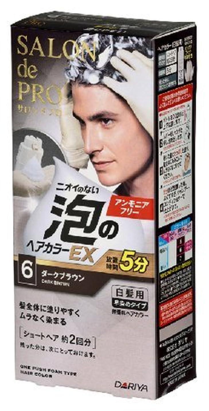 花火忍耐仲良しサロンドプロ 泡のヘアカラーEX メンズスピーディ(白髪用) 6<ダークブラウン> × 30個セット
