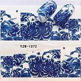 Yan 3個ネイルステッカーセットデカール水転写スライダーネイルアートデコレーション、色:YZW 1372