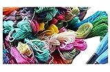 [笑顔一番] クレパス のように 色 がきれいな 刺繍糸 100本 まとめ 買い セット ミサンガ クロスステッチ に 最適 な 刺しゅう糸 まとめ買い [A053-12]