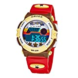 子供 デジタル時計 腕時計 スポーツウォッチ キッズ LED カジュアル 女の子 男の子 レッド
