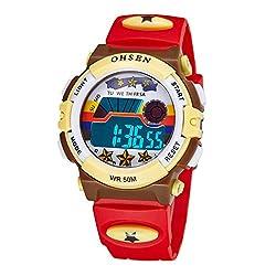 デジタル時計 腕時計 子供 スポーツウォッチ キッズ LED カジュアル 女の子 男の子