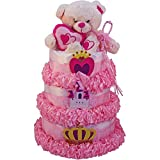 My Little Princess Newborn Baby Girl Diaper Cake Gift Tower by Art of Appreciation Gift Baskets