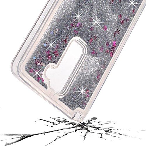 LG Stylo 2ケース、LG ls775ケース、MCUK Bling Sparkle Glitters液体Quicksand Movingスターシェイプフローティング高級ファッションクリエイティブソフトバンパーケースfor LG Stylo 2/ ls775