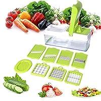 野菜ヘリコプターマンドリンスライサーダイサーマンドリンナイフ、コンテナーおよびスパイラルスライサー、食品、果物、ジャガイモ、トマト、タマネギ