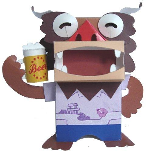 ペーパークラフト ミニシーサーの仲間たち (ビール)