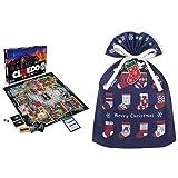 ハズブロ ボードゲーム クルード クラシック マーダー ミステリー ゲーム 38712 正規品 + インディゴ クリスマス ラッピング袋 グリーティングバッグL ソックス ネイビー ミニカード付 XG248