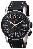 Glycine Airman 17 Sphair Automatic GMT World Timer Steel Mens Watch 3927.191 LB9B