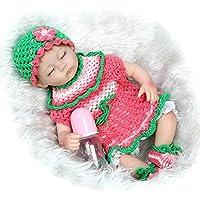 Sleeping Rebornベビー人形ソフトSiliconeビニール17インチ42 cm Lovely Lifelikeキュート赤ちゃん男の子女の子おもちゃ美しいウールClothes人形