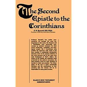 Second Epistle to the Corinthians (Black's New Testament Commentaries)